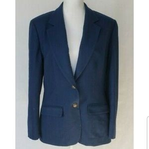 Vintage Pendleton Womens Blue Virgin Wool Blazer J